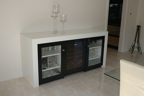 Buffet With Wine Fridge